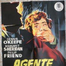 Cine: CARTEL CINE AGENTE FEDERAL X-678 LITOGRAFIA JANO ORIGINAL, CC1. Lote 182868921