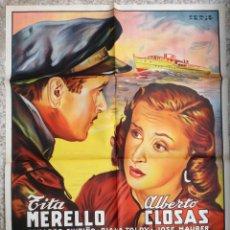 Cine: CARTEL CINE VIVIR UN INSTANTE TITA MERELLO ALBERTO CLOSAS LITOGRAFIA PERIS ARAGO ORIGINAL, CC1. Lote 182869261