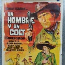Cine: UN HOMBRE Y UN COLT. CLAUDIO UNDARI, FERNANDO SANCHO, MIRKO ELLIS. AÑO 1967. POSTER ORIGINAL. Lote 182890272