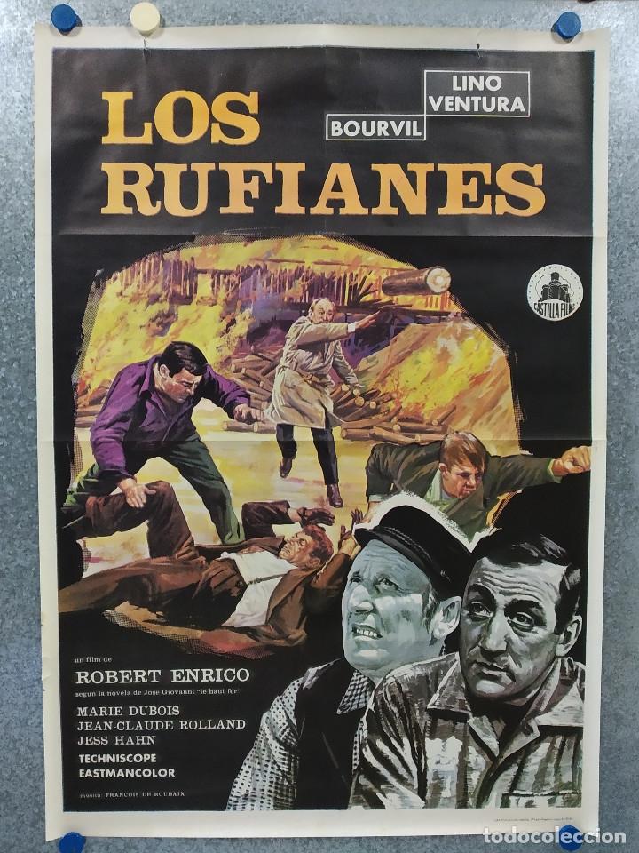 LOS RUFIANES. BOURVIL, LINO VENTURA, MARIE DUBOIS. AÑO 1968. POSTER ORIGINAL (Cine- Posters y Carteles - Drama)