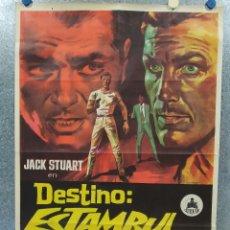 Cine: DESTINO: ESTAMBUL 68. GIACOMO ROSSI-STUART, MÓNICA RANDALL AÑO 1967. POSTER ORIGINAL. Lote 182896110