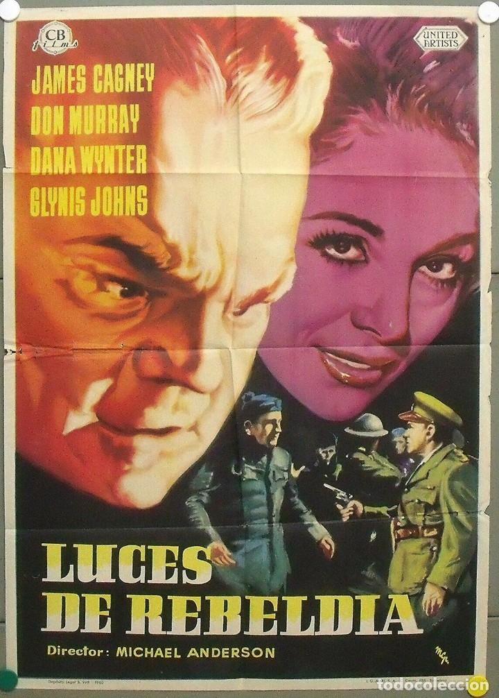 PN39D LUCES DE REBELDIA JAMES CAGNEY POSTER ORIGINAL 70X100 ESTRENO (Cine - Posters y Carteles - Acción)