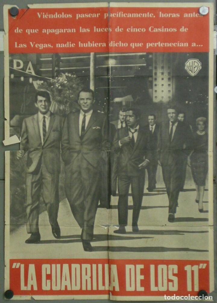 VE20D LA CUADRILLA DE LOS ONCE FRANK SINATRA RAT PACK POSTER ORIGINAL ESPAÑOL 70X100 ESTRENO A (Cine - Posters y Carteles - Suspense)