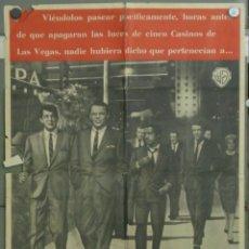 Cine: VE20D LA CUADRILLA DE LOS ONCE FRANK SINATRA RAT PACK POSTER ORIGINAL ESPAÑOL 70X100 ESTRENO A. Lote 182911511