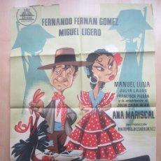 Cine: CARTEL CINE MORENA CLARA JULIA CABA MIGUEL LIGERO ANA MARISCAL LITOGRAFIA C1613. Lote 182924532