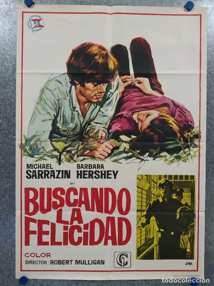 BUSCANDO DE LA FELICIDAD. BARBARA HERSHEY, ROBERT KLEIN. AÑO 1972. POSTER ORIGINAL (Cine- Posters y Carteles - Drama)