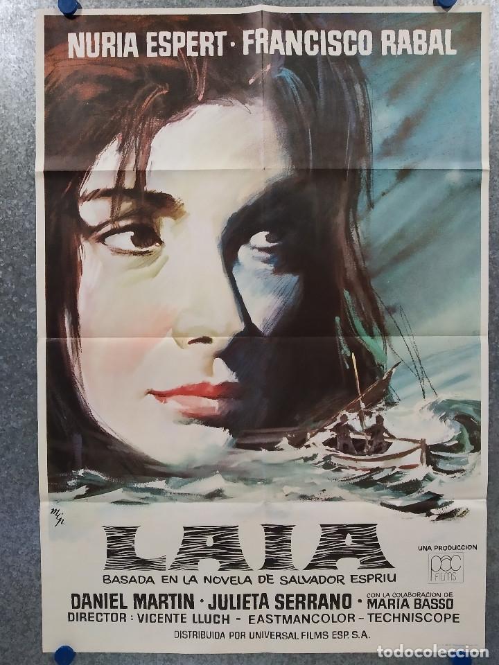 LAIA. NURIA ESPERT, FRANCISCO RABAL, DANIEL MARTÍN. AÑO 1971. POSTER ORIGINAL (Cine- Posters y Carteles - Drama)
