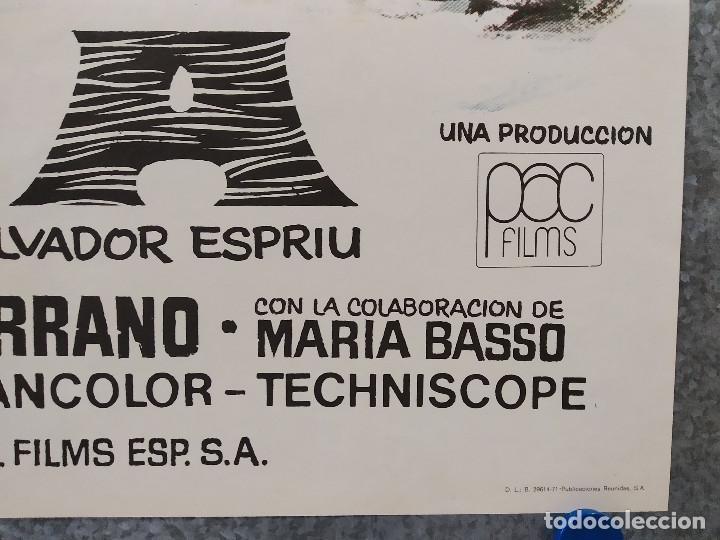 Cine: Laia. Nuria Espert, Francisco Rabal, Daniel Martín. AÑO 1971. POSTER ORIGINAL - Foto 4 - 182939523