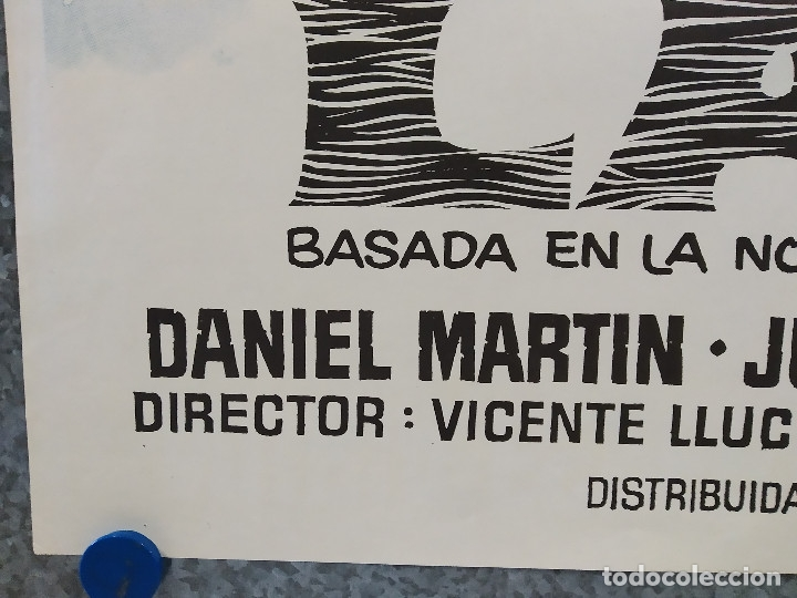 Cine: Laia. Nuria Espert, Francisco Rabal, Daniel Martín. AÑO 1971. POSTER ORIGINAL - Foto 5 - 182939523