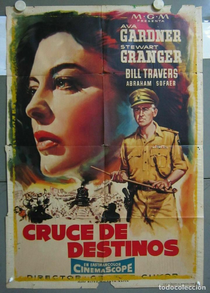 ZO68D CRUCE DE DESTINOS AVA GARDNER STEWART GRANGER POSTER ORIGINAL 70X100 ESTRENO (Cine - Posters y Carteles - Aventura)