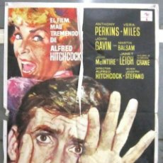 Cine: YC43D PSICOSIS PSYCHO ALFRED HITCHCOCK PERKINS POSTER ORIGINAL 70X100 ESPAÑOL. Lote 182974868