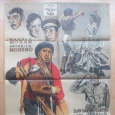 Cine: CARTEL CINE EL BANDIDO GENEROSO MANOLO MORAN ANTOÑITA MORENO BALLUS LITOGRAFIA C1620. Lote 182980948