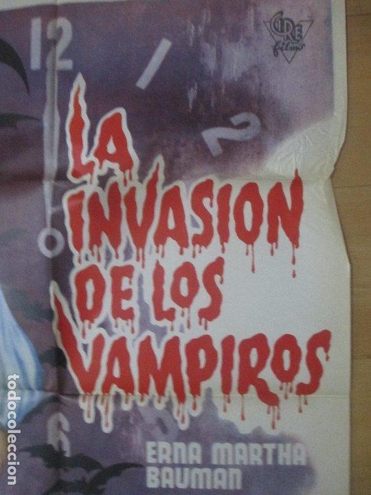Cine: CARTEL CINE LA INVASION DE LOS VAMPIROS ERNA MARTHA BAUMAN C1627 - Foto 2 - 183096120