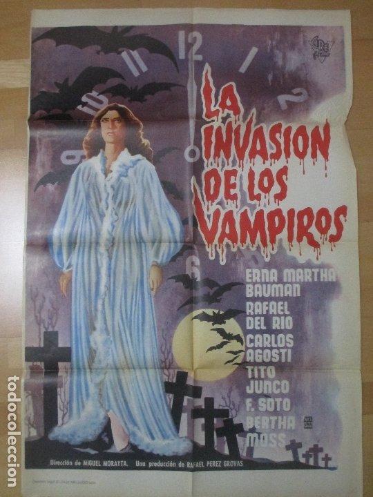 CARTEL CINE LA INVASION DE LOS VAMPIROS ERNA MARTHA BAUMAN C1627 (Cine - Posters y Carteles - Terror)