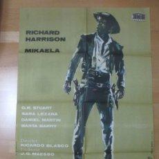 Cine: CARTEL CINE GRINGO RICHARD HARRISON MIKAELA C1628. Lote 183096295