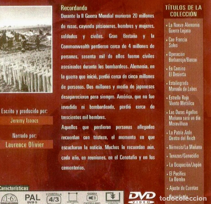 Cine: Documental El mundo en Guerra. galardonada con el premio EMMY 26 dvd completa buen estado ver ficha - Foto 4 - 183097411