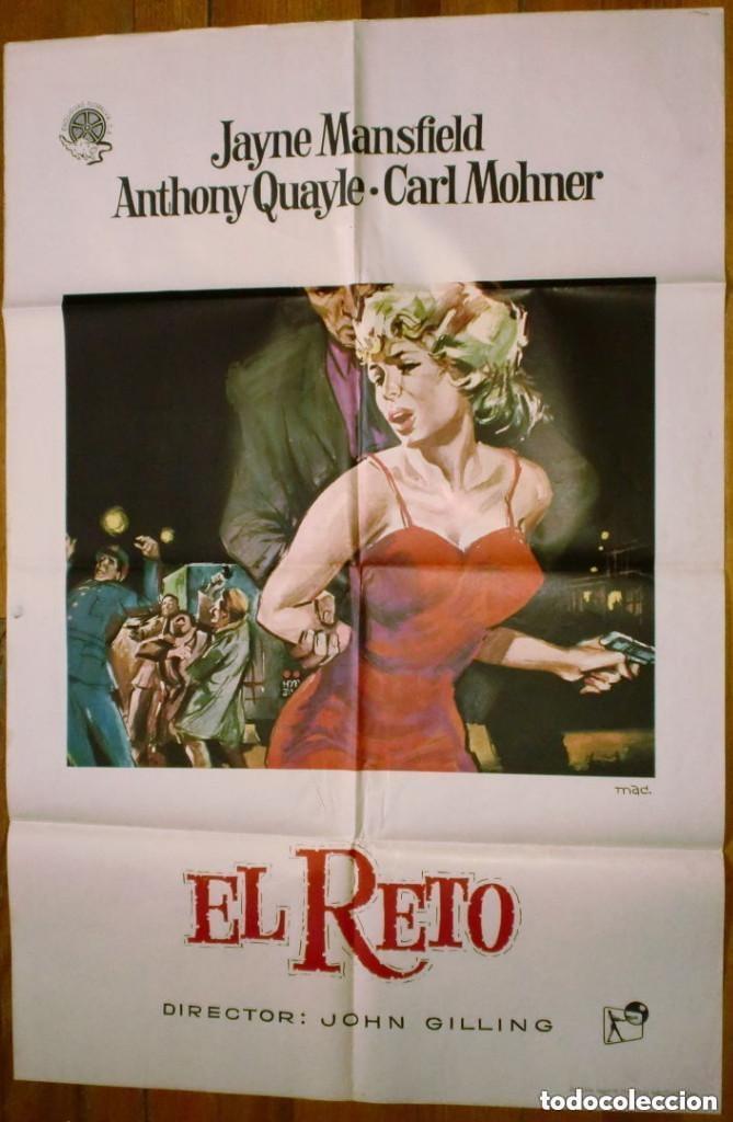 CARTEL: EL RETO (JOHN GILLING) - JAYNE MANSFIELD - (Cine - Posters y Carteles - Suspense)