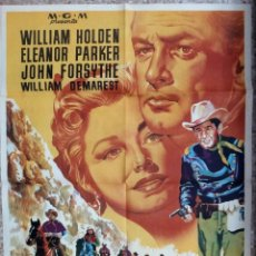 Cine: CARTEL CINE FORT BRAVO WILLIAM HOLDEN ELEONOR PARKER JOHN FORSYTHE LITOGRAFIA ORIGINAL, CC1. Lote 183208088