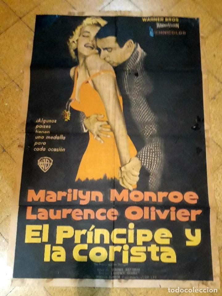 POSTER ORIGINAL EL PRÍNCIPE Y LA CORISTA MARILYN MONROE LAURENCE OLIVER 75 X 105 (Cine- Posters y Carteles - Drama)