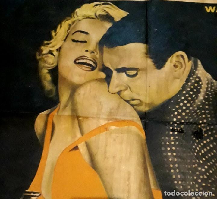 Cine: Poster original El príncipe y la corista Marilyn Monroe Laurence Oliver 75 x 105 - Foto 2 - 183218551