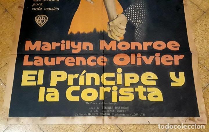 Cine: Poster original El príncipe y la corista Marilyn Monroe Laurence Oliver 75 x 105 - Foto 3 - 183218551