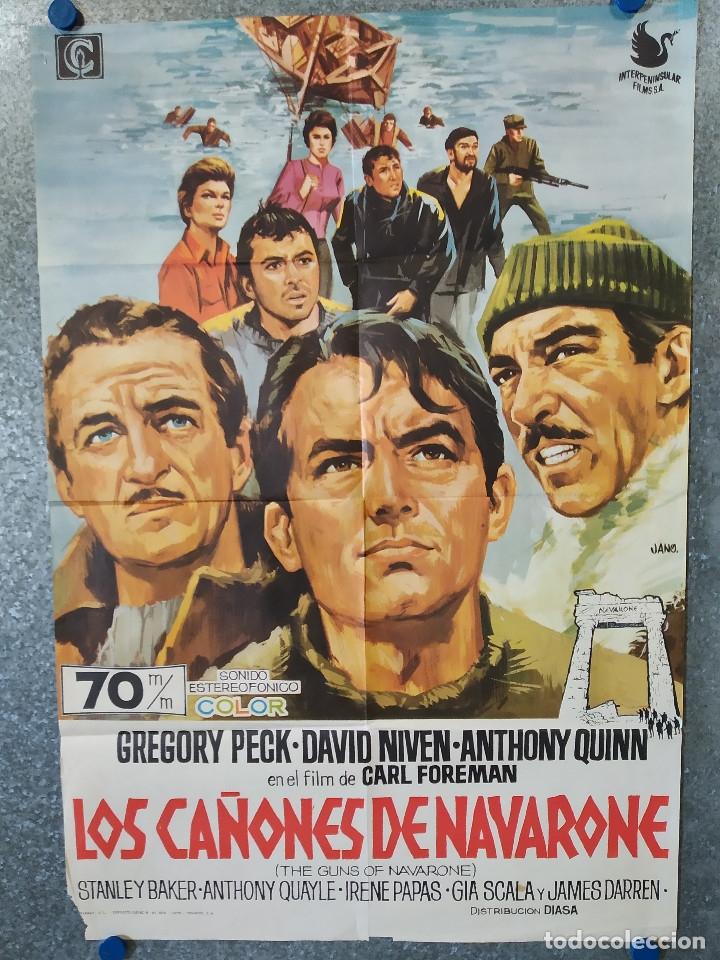 LOS CAÑONES DE NAVARONE. GREGORY PECK, DAVID NIVEN AÑO 1970. POSTER ORIGINAL (Cine - Posters y Carteles - Bélicas)