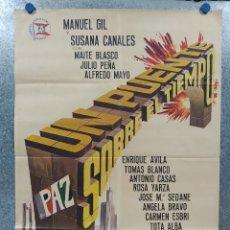 Cine: UN PUENTE SOBRE EL TIEMPO. MANUEL GIL, SUSANA CANALES. AÑO 1964. POSTER ORIGINAL. Lote 183303637