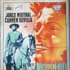 Cine: CARTEL CINE UN CABALLERO ANDALUZ JORGE MISTRAL CARMEN SEVILLA LITOGRAFIA RAGA ORIGINAL, CC1. Lote 183402550