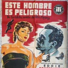 Cine: CARTEL CINE ESTE HOMBRE ES PELIGROSO EDDIE CONSTANTINE LITOGRAFIA VICIANO 1954 ORIGINAL, CC1. Lote 183403083
