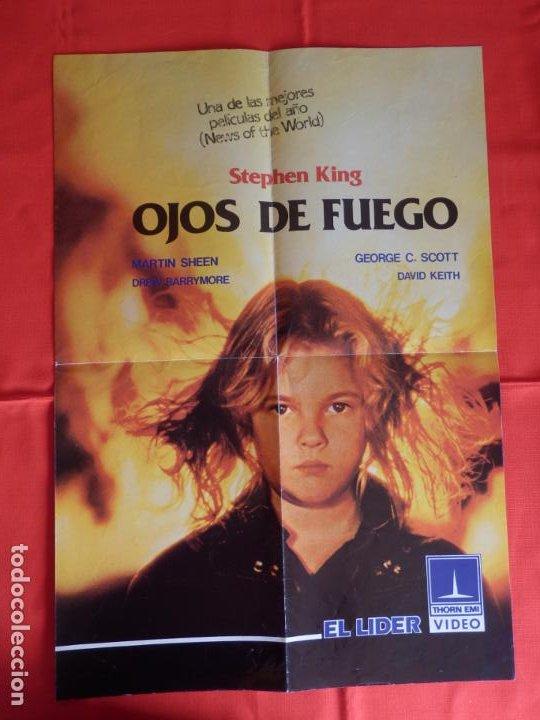 OJOS DE FUEGO,ELLA TIENE PODER, POSTER DOBLE A UNA CARA, MEDIDAS 42,5X60 CMS CERRADO (Cine - Posters y Carteles - Terror)