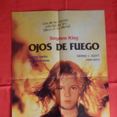 Cine: OJOS DE FUEGO,ELLA TIENE PODER, POSTER DOBLE A UNA CARA, MEDIDAS 42,5X60 CMS CERRADO. Lote 183420265