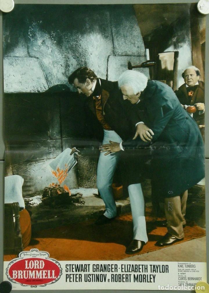 Cine: TU28D BEAU BRUMMELL ELIZABETH TAYLOR STEWART GRANGER SET 10 POSTERS ORIGINALES ITALIANOS 47X68 - Foto 3 - 183436157