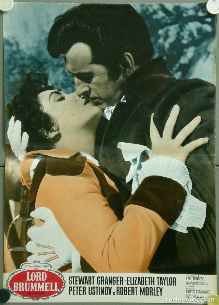 Cine: TU28D BEAU BRUMMELL ELIZABETH TAYLOR STEWART GRANGER SET 10 POSTERS ORIGINALES ITALIANOS 47X68 - Foto 5 - 183436157