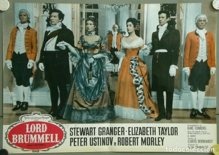 Cine: TU28D BEAU BRUMMELL ELIZABETH TAYLOR STEWART GRANGER SET 10 POSTERS ORIGINALES ITALIANOS 47X68 - Foto 6 - 183436157
