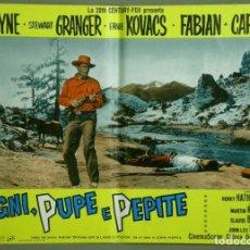 Cine: UF56D ALASKA TIERRA DE ORO JOHN WAYNE STEWART GRANGER CAPUCINE SET 8 POSTERS ORIGI ITALIANOS 47X68 A. Lote 183440917