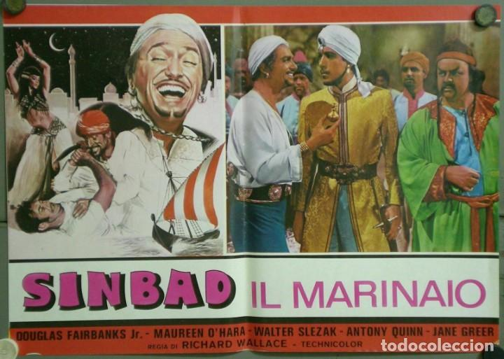 Cine: UF52D SIMBAD MARINO MAUREEN O'HARA DOUGLAS FAIRBANKS JR SET 8 POSTERS ORIGINALES ITALIANOS 47X68 - Foto 5 - 183441593