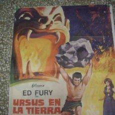 Cine: PÓSTER ORIGINAL DE 100X70CM URSUS EN LA TIERRA DEL FUEGO. ED FURY. AÑO 1972.. Lote 183450918