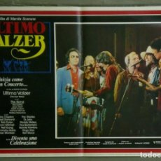 Cine: VD22D EL ULTIMO VALS BOB DYLAN RINGO STARR THE BAND SCORSESE SET 10 POSTERS ORIG ITALIANOS 47X68. Lote 183456040