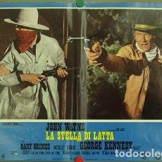 Cine: CS37D LA SOGA DE LA HORCA CAHILL JOHN WAYNE SET 10 POSTERS ORIGINALES ITALIANOS 47X68. Lote 183461740