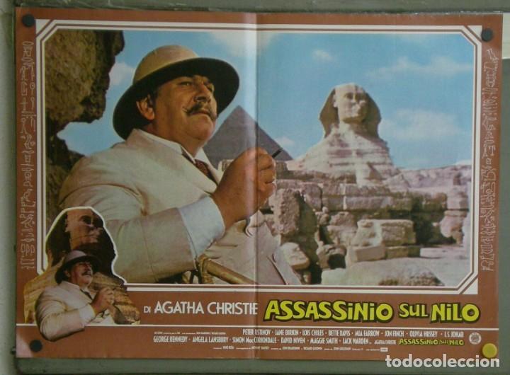 VE21D MUERTE EN EL NILO PETER USTINOV AGATHA CHRISTIE SET 10 POSTERS ORIGINALES ITALIANOS 47X68 (Cine - Posters y Carteles - Suspense)