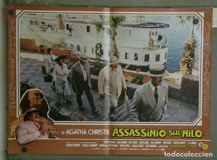 Cine: VE21D MUERTE EN EL NILO PETER USTINOV AGATHA CHRISTIE SET 10 POSTERS ORIGINALES ITALIANOS 47X68 - Foto 3 - 183462800