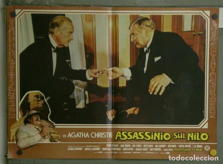 Cine: VE21D MUERTE EN EL NILO PETER USTINOV AGATHA CHRISTIE SET 10 POSTERS ORIGINALES ITALIANOS 47X68 - Foto 4 - 183462800
