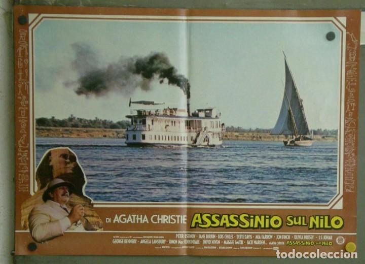 Cine: VE21D MUERTE EN EL NILO PETER USTINOV AGATHA CHRISTIE SET 10 POSTERS ORIGINALES ITALIANOS 47X68 - Foto 5 - 183462800