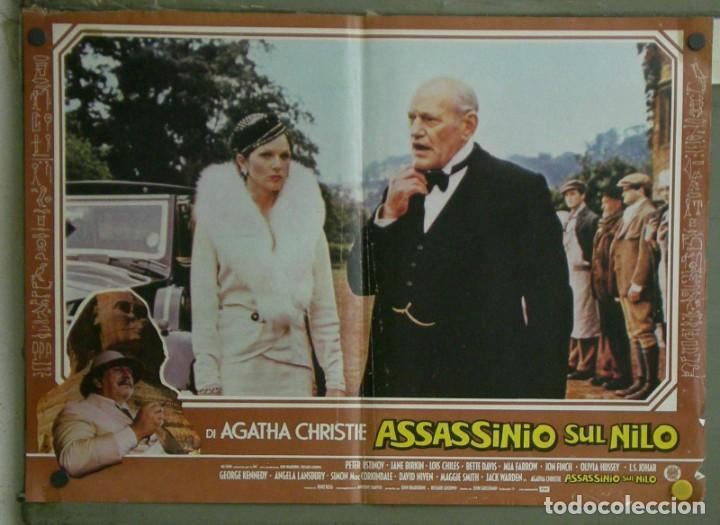 Cine: VE21D MUERTE EN EL NILO PETER USTINOV AGATHA CHRISTIE SET 10 POSTERS ORIGINALES ITALIANOS 47X68 - Foto 6 - 183462800