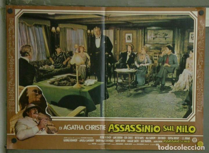 Cine: VE21D MUERTE EN EL NILO PETER USTINOV AGATHA CHRISTIE SET 10 POSTERS ORIGINALES ITALIANOS 47X68 - Foto 8 - 183462800