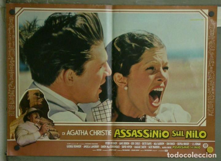 Cine: VE21D MUERTE EN EL NILO PETER USTINOV AGATHA CHRISTIE SET 10 POSTERS ORIGINALES ITALIANOS 47X68 - Foto 9 - 183462800