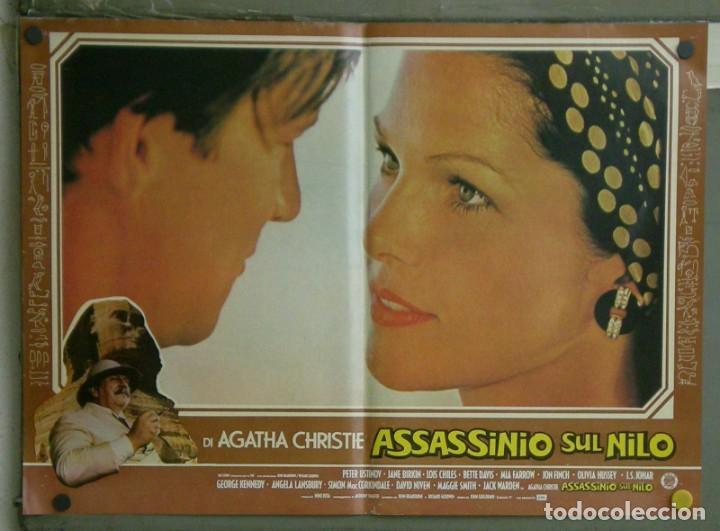 Cine: VE21D MUERTE EN EL NILO PETER USTINOV AGATHA CHRISTIE SET 10 POSTERS ORIGINALES ITALIANOS 47X68 - Foto 10 - 183462800