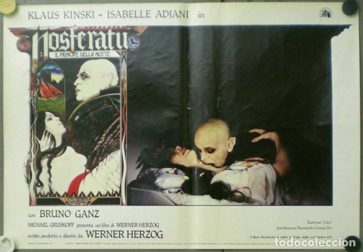 VE27D NOSFERATU VAMPIRO DE LA NOCHE KLAUS KINSKI WERNER HERZOG SET 8 POSTERS ORIG ITALIANOS 47X68 (Cine - Posters y Carteles - Terror)