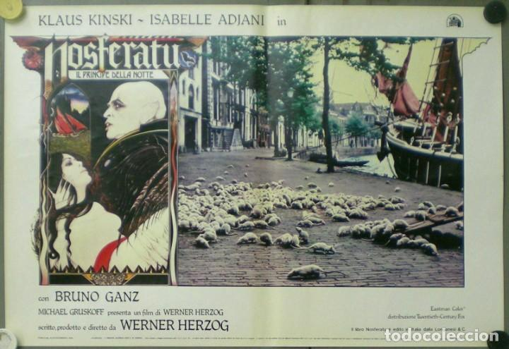 Cine: VE27D NOSFERATU VAMPIRO DE LA NOCHE KLAUS KINSKI WERNER HERZOG SET 8 POSTERS ORIG ITALIANOS 47X68 - Foto 3 - 183463797