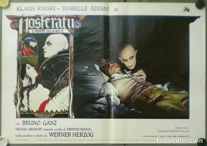 Cine: VE27D NOSFERATU VAMPIRO DE LA NOCHE KLAUS KINSKI WERNER HERZOG SET 8 POSTERS ORIG ITALIANOS 47X68 - Foto 4 - 183463797